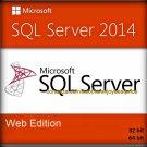 SQL Server 2014 Web Edition 32 64 bit Lifetime Licence Key + Full Software Pack