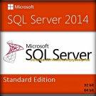 SQL Server 2014 Standard Edition 32 64 bit Lifetime Licence Key + Software Pack