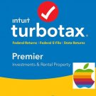 Turbotax Premier 2017 for MAC with State & eFiles INSTAL DOWNLOAD BEST PRICE