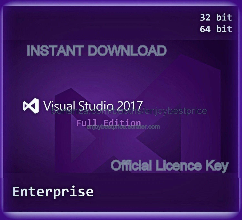 Visual Studio 2017 Enterprise 32 64 bit Unlimited PC Software Pack + Licence Key INSTANT DELIVERY