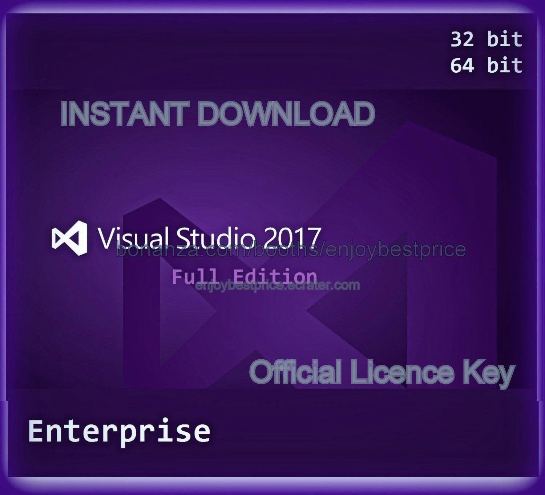 Visual Studio 2017 Enterprise 32 64 bit Unlimited PC