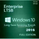 Microsoft Windows 10 Enterprise LTSB 2016 32 64bit Lifetime Licence Key Software