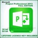 Microsoft Project Professional 2013 32 64 bit License KEY +Download