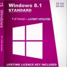 Microsoft Windows 8.1 Standard 32 64 bit Lifetime KEY +Download