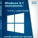 Microsoft Windows 8.1 Professional 32 64 bit Lifetime KEY + DOWNLOAD