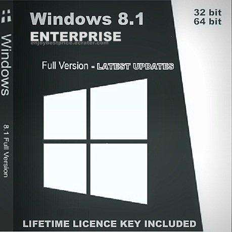 Microsoft Windows 8.1 Enterprise 32 64 bit Lifetime KEY + FULL DOWNLOAD