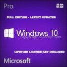 Windows 10 Pro 64/32 bit Professional License key & Download link