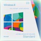 Microsoft Windows 8 Standard  32 64 bit Lifetime KEY + FULL DOWNLOAD