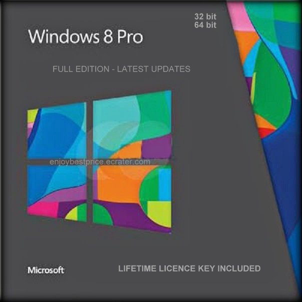 Microsoft Windows 8 Professional PRO 32 64 bit Lifetime KEY + FULL DOWNLOAD