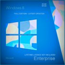 Microsoft Windows 8 Enterprise  32 64 bit Lifetime KEY + FULL DOWNLOAD