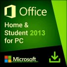 Microsoft Office 2013 Home & Student 32 64 bit Lifetime KEY Soft Link INCLUDED