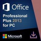 Microsoft Office 2013 Pro Plus 32 64 bit Lifetime KEY Soft Link INCLUDED