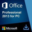 Microsoft Office 2013 Professional 32 64 bit Lifetime KEY Soft Link INCLUDED