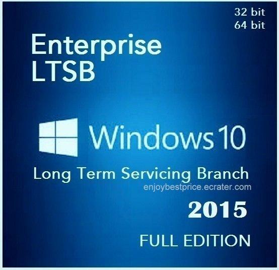 Microsoft Windows 10 Enterprise LTSB 2015 32 64bit Lifetime Licence Key Software