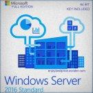 Microsoft Windows Server 2016 Standard  64-bit Licence Key +Soft