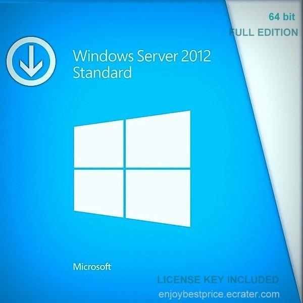 Microsoft Windows Server 2012 Standard  64-bit Licence Key +Soft