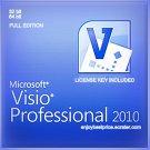 Microsoft Visio Professional 2010 32 64 bit Lifetime KEY +Download