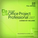 Microsoft Project Professional 2007 32 64 bit Lifetime KEY +Download