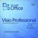 Microsoft Visio Professional 2007 32 64 bit Lifetime KEY +Download