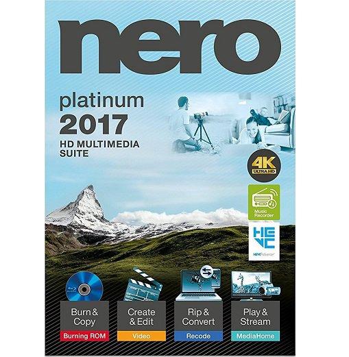 Nero 2017 Platinum CD/DVD Burning  INSTANT DELIVERY Key +Software