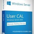 MS Windows Server 2016 & R2 Remote Desktop Services 50 USERS CAL License Key