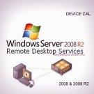 Microsoft Windows Server 2008 R2 Remote Desktop Services 10 Device CAL 64 bit KEY