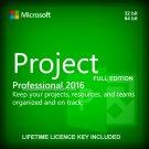 Microsoft Project Professional 2016 32 64 bit Lifetime KEY +Download