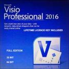 Microsoft Visio Professional 2016 32 64 bit Lifetime KEY +Download