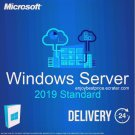 Microsoft Windows Server 2019 Standard 64-bit Licence Key +Soft