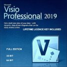 Microsoft Visio Professional 2019 32 64 bit Lifetime KEY +Download
