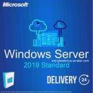 Microsoft Windows Server 2019 Standard 64-bit Licence Key +Soft