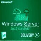 Microsoft Windows Server 2019 Essential 64-bit Licence Key +Soft