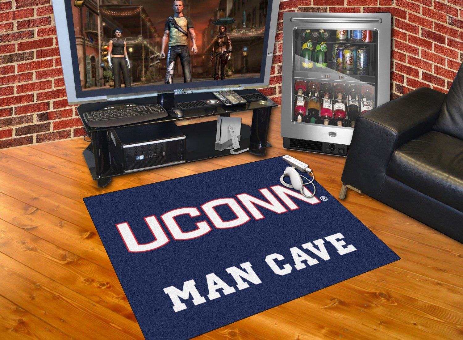 Man Cave Store Tanger Outlets : University of connecticut man cave all star mat