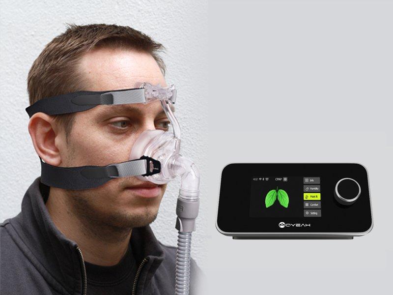 MOYEAH BPAP Ventilator - Auto-Ramp, Unique IPR, REG, Auto-Humidifier, Waveform Display