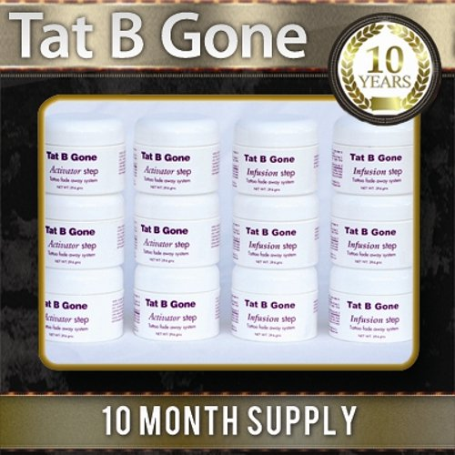 Tat B Gone 10 Months Supply - The Original & Most Effective Solution For Tattoo Removal