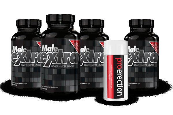 Male Extra 3 Bottles + 1 Free + Free Pro Erection Gel