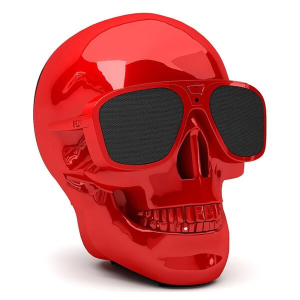 Jarre AeroSkull XS + Bluetooth Portable Speaker - Glossy Red