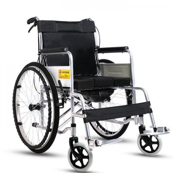 Folding Wheelchair Aluminum Hand Brake Scooter Light Elderly Disabled Trolley