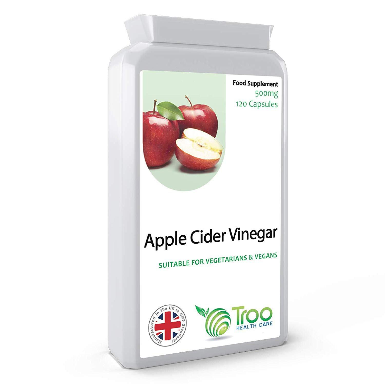 Apple Cider Vinegar 500mg 120 Capsules (Month Supply)