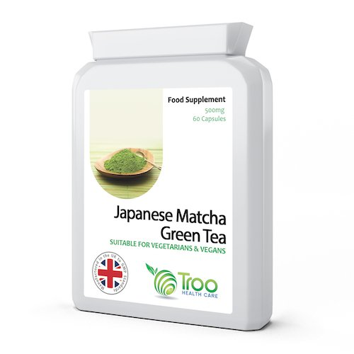 Japanese Matcha Green Tea 500mg 60 Capsules - Suitable for Vegetarians and Vegans