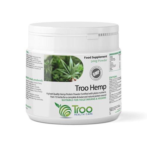 Troo-Hemp Hemp Protein Powder 500g - Suitable for Vegetarians and Vegans