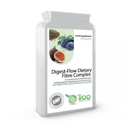 Digest-Flow Dietary Fibre Complex 100 Capsules - Suitable for Vegetarians and Vegans