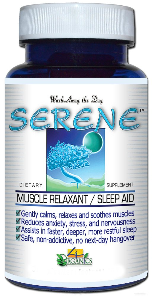 Muscle Relaxant Sleep Aid Supplement (60 Capsules) - Serene