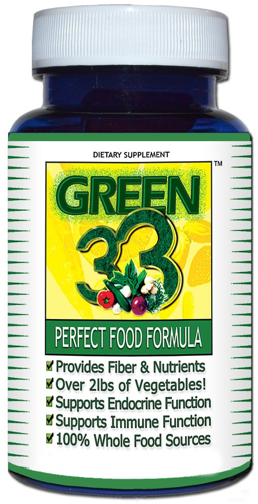 Daily Greens Vegetable Superfoods Supplement (45 Capsules) - Green 33