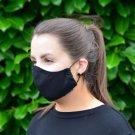 Black 100% Cotton Canvas Mask - Machine Washable, Reusable and Fashionable