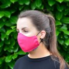 Pink 100% Cotton Canvas Mask - Machine Washable, Reusable and Fashionable