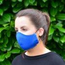 Royal Blue 100% Cotton Canvas Mask - Machine Washable, Reusable and Fashionable