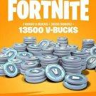 V-Bucks - Fortnite 13500 V-Bucks Gift Card Key GLOBAL