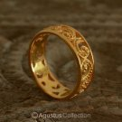 RING Genuine 24K Gold Vermeil over Sterling SILVER 2.90 g US size 8 ~ Handmade