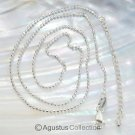 """925 Sterling SILVER Bead Link Chain 18.1"""" NECKLACE with Extender 2.23 g"""